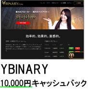 Ybinary10000円キャッシュバック