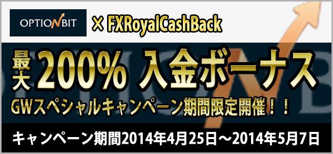 optionbitGW200%入金キャンペーン