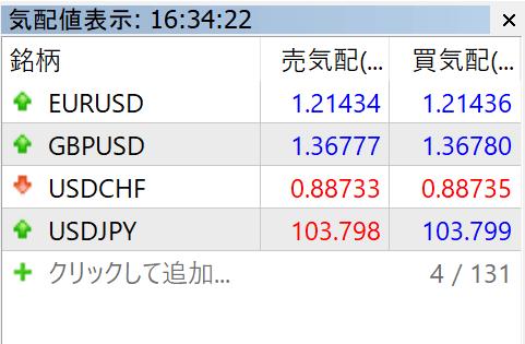 取引通貨を追加する