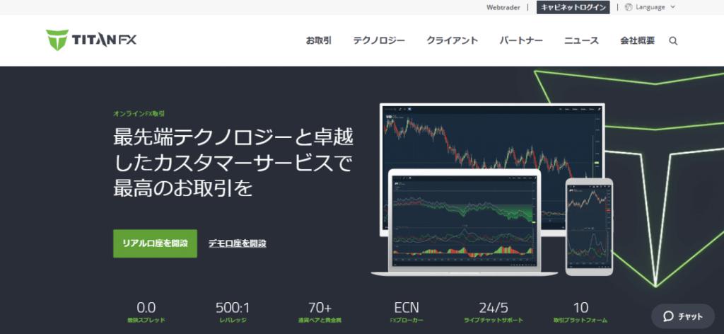 TitanFXの取引ツール