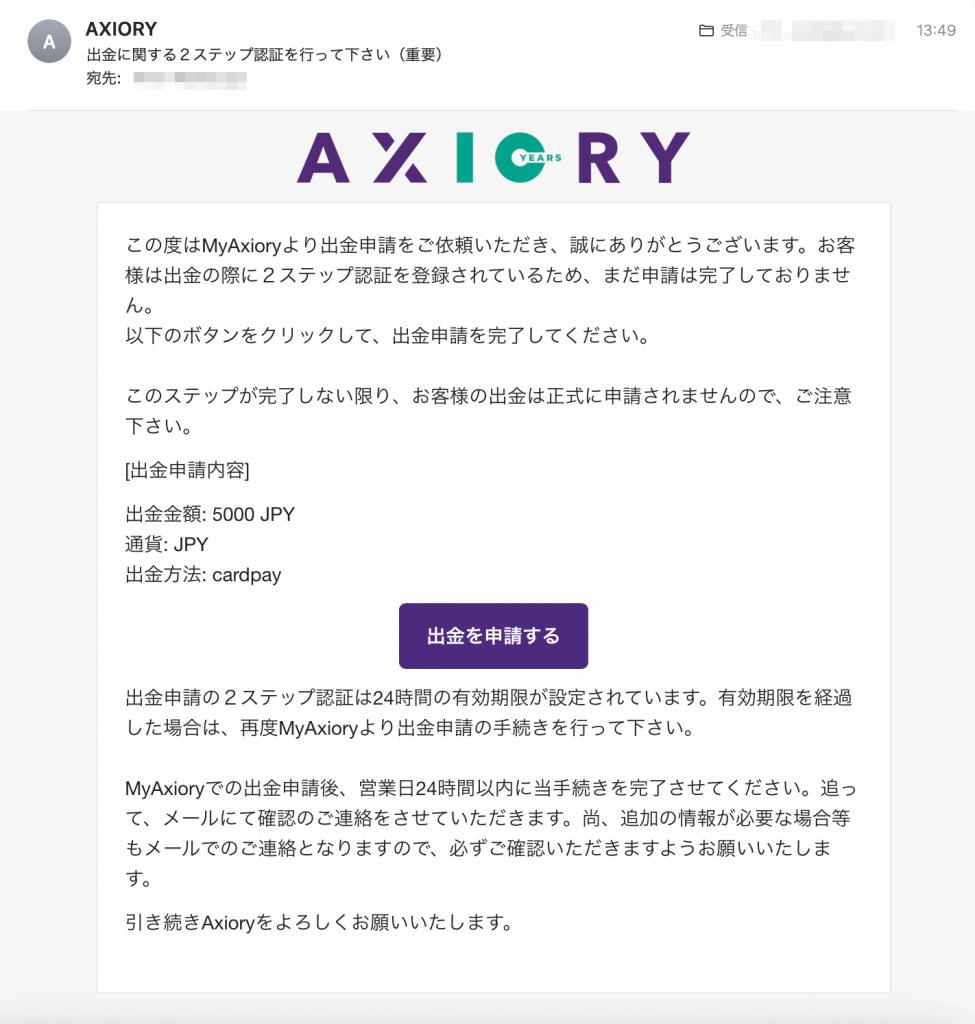 AXIORY出金ステップ