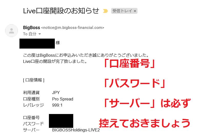 Bigbossログイン情報